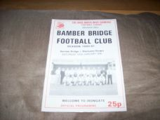 Bamber Bridge v Blackpool Rovers, 1990/91